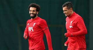 Салах (слева) на тренировке Ливерпуля, Getty Images