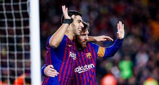 Суарес и Месси, фото ФК Барселона