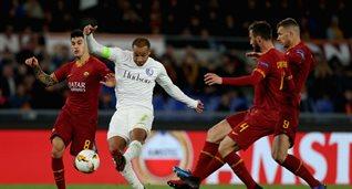 Рома в матче ЛЕ против Гента, Getty Images