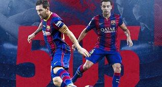 Месси и Хави, фото Барселона