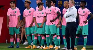 Рональд Куман и футболисты Барселоны, Getty Images