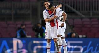 Андер Эррера и Клиан Мбаппе после матча против Барселоны, Getty Images