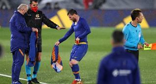 Лионель Месси в матче против Реала, Getty Images