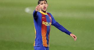 Серхи Роберто в матче против Реала, Getty Images