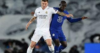 Нголо Канте в первом матче против Реала, Getty Images