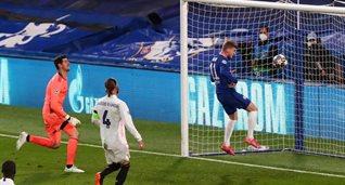 Тимо Вернер забивает в ворота Реала, Getty Images