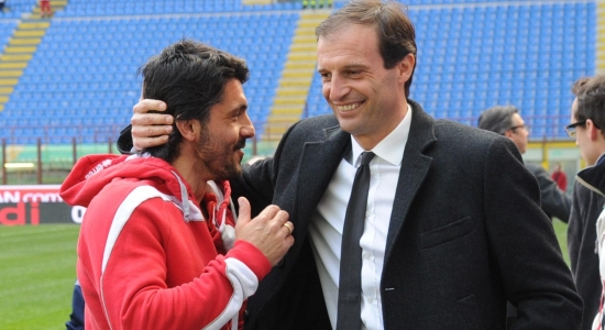 Дженнаро Гаттузо и Массимилиано Аллегри, фото spaziomilan.it