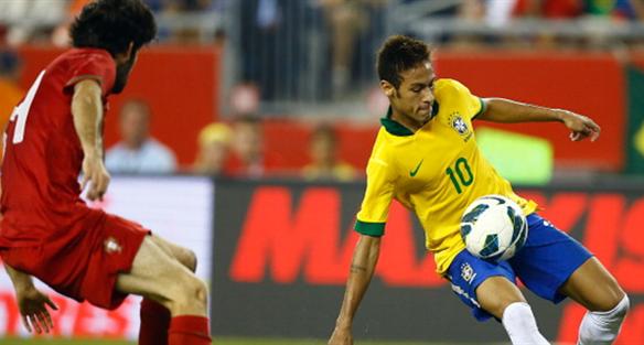 Неймар в игре с Португалией, фото Getty Images