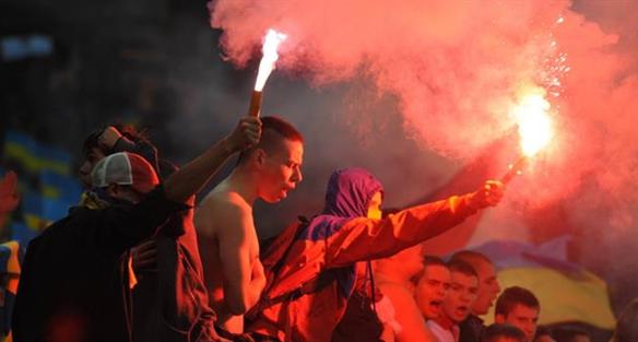 Фанаты на матче Украина - Сан-Марино, фото Football.ua