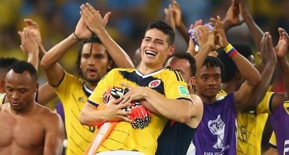 Джеймс Родригес с командой Колумбии, Getty Images