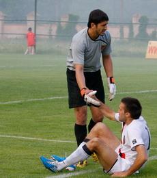 Антон Хромых и Руслан Зарубин, фото Александра Осипова, Football.ua