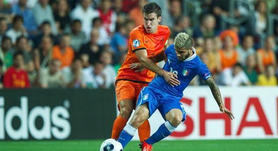 Кевин Строотман в игре с молодежной сборной Италии, Getty Images