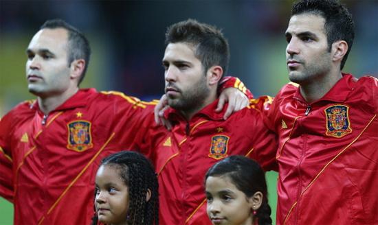 Андрес Иньеста, Хорди Альба и Сеск Фабрегас, Getty Images