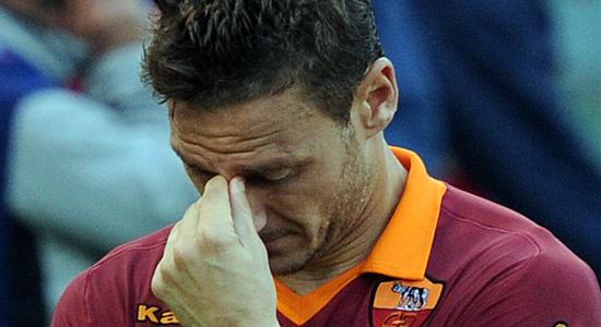 Франческо Тотти после финала Кубка Италии, Getty Images