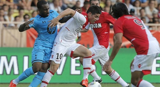 Данни Роуз (слева) в игре с Монако, фото AP