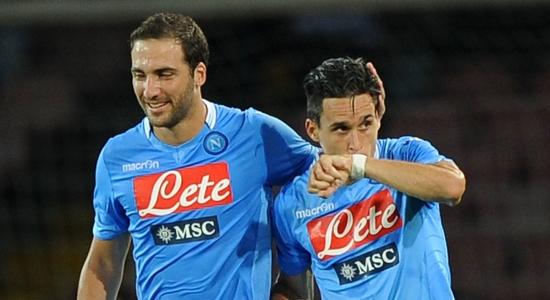 Кальехон (справа) забил дебютный гол в Серии А, фото Getty Images