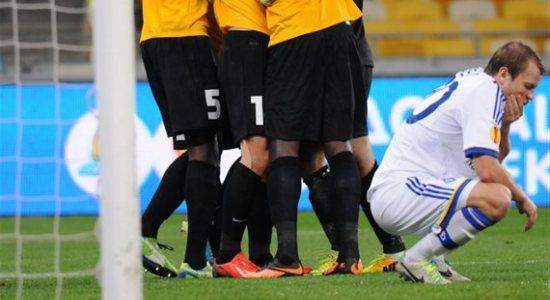 Олег Гусев после пропущенного гола, © Илья Хохлов, Football.ua
