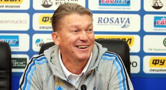 Олег Блохин смеется, фото Олега Дубины, Football.ua