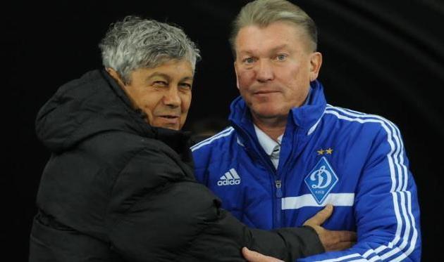Мирча Луческу и Олег Блохин, фото И.Хохлова, Football.ua
