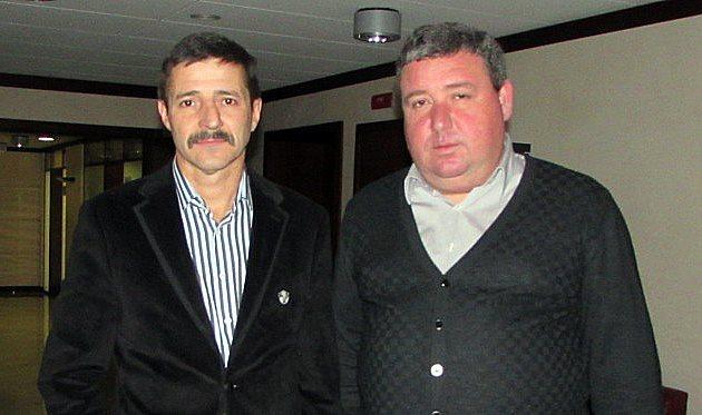 Президент ФК Буковина Сергій Гринюк (ліворуч) та віце-президент клубу Роман Дрінь, фото А.Валерка, Football.ua