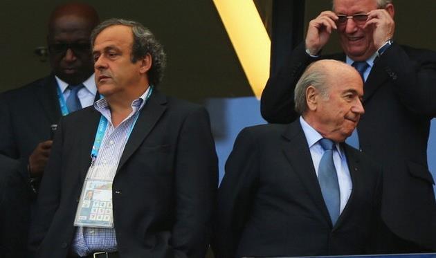 Платини не поддерживает Блаттера, Getty Images