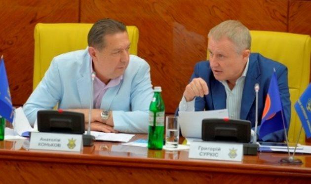 Анатолий Коньков и Григорий Суркис, фото ffu.org.ua
