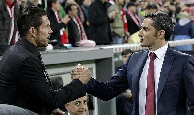 Диего Симеоне и Эрнесто Вальверде, EFE