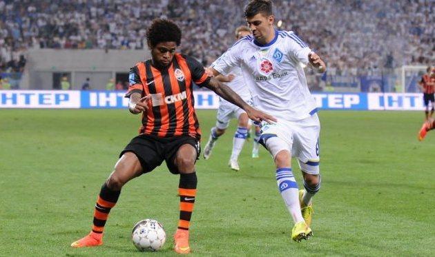 Луис Адриано и Александр Драгович, фото И.Хохлова, Football.ua