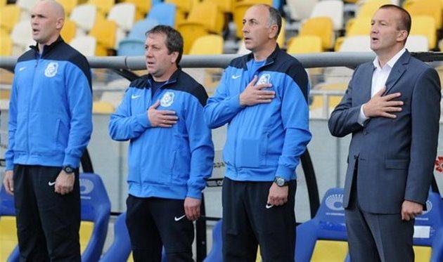 Андрей Глущенко (крайний слева) снова с Григорчуком, фото Ильи Хохлова, Football.ua
