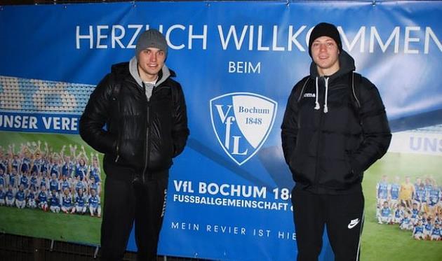Максим Зеленевич (слева) в Бохуме, sport.pl.ua