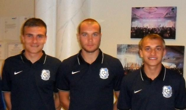 Александр Калитов, Ярослав Олейник и Антон Кича, фото www.chernomorets.odessa.ua