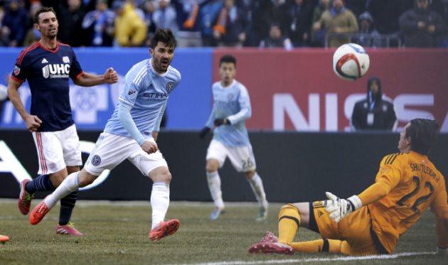 Давид Вилья открывает счет своим голам в МЛС, Getty Images