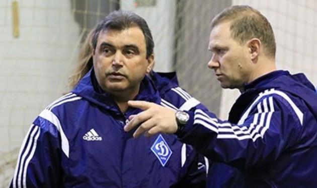Главный тренер Динамо-2 Вадим Евтушенко (слева), фото www.fcdynamo.kiev.ua