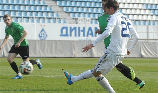 Яремчук забивает второй мяч в ворота полтавцев, фото fcdynamo.kiev.ua
