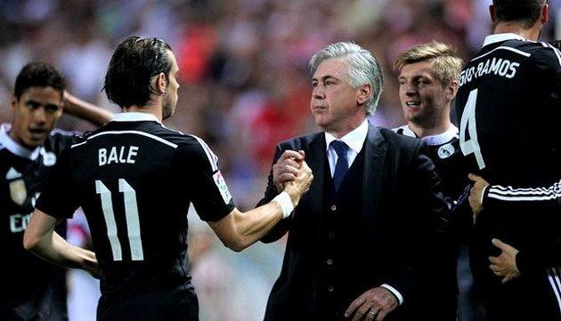 Карло Анчелотти и игроки Реала, getty images