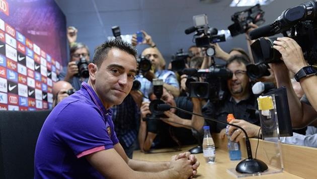 Хави на прощальной пресс-конференции, Getty Images