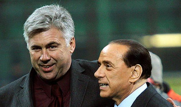 Анчелотти и Берлускони, AFP/Getty Images
