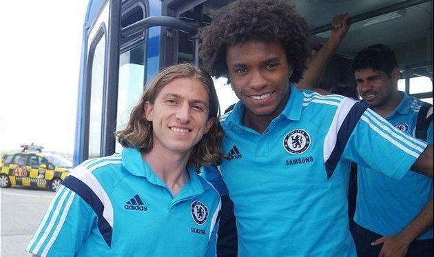 Филипе Луис и Виллиан, @ChelseaFC