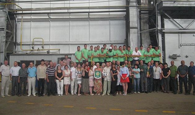 Авангард перед сезоном побывал на экскурсии на машиностроительном заводе,