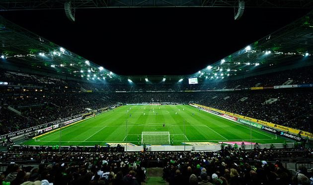 Стадион в матче динамо- боруссия