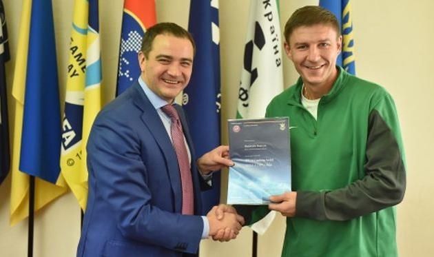 Андрей Павелко, Максим Шацких, ffu.org.ua