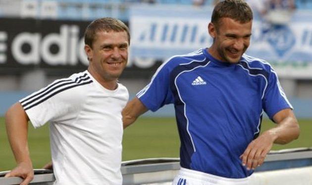 Сергей Ребров, Андрей Шевченко, fcdynamo.kiev.ua