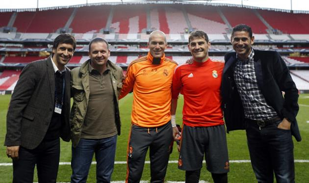 Рауль, Миятович, Зидан, Касильяс и Йерро перед финалом Лиги чемпионов с Атлетико, Getty Images