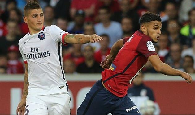 Софиан Буфал (справа) в матче против ПСЖ, Getty Images