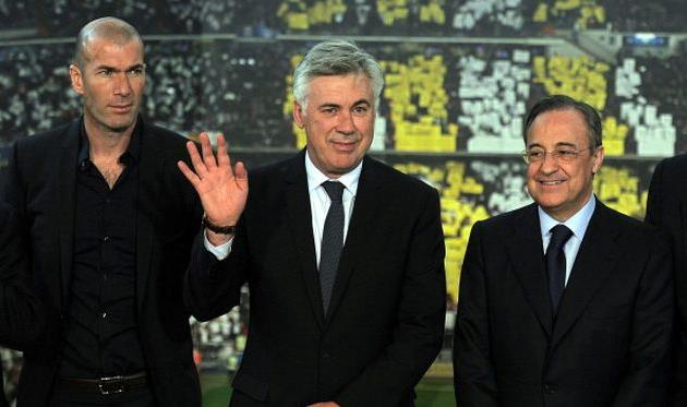 Зидан, Анчелотти и Перес, Getty Images