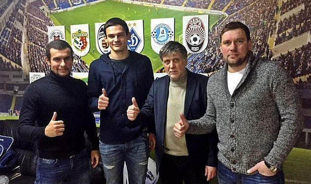 Александр Азацкий с преставителями клуба, chernomorets.odessa.ua