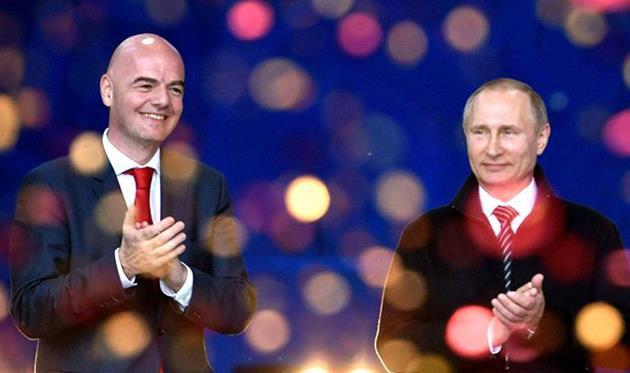 президент ФИФА Джанни Инфантино (слева), Goal