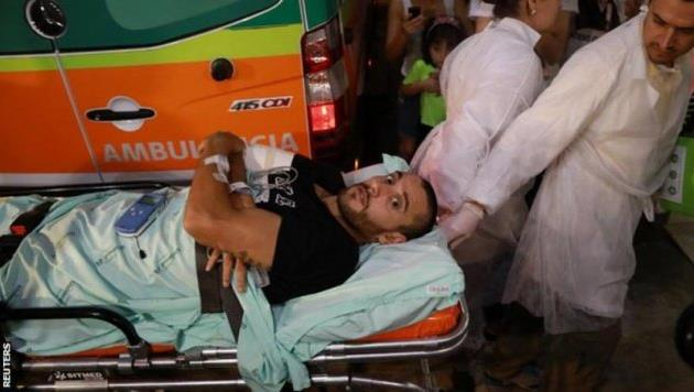 алана рушеля, одного из выживших в катастрофе, переправляют в бразилию, reuters