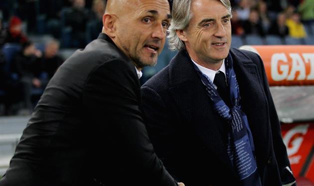Лучано Спаллетти (слева) - Роберто Манчини: