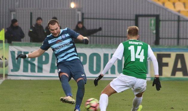 Полярус забил единственный гол в матче, ФК Олимпик